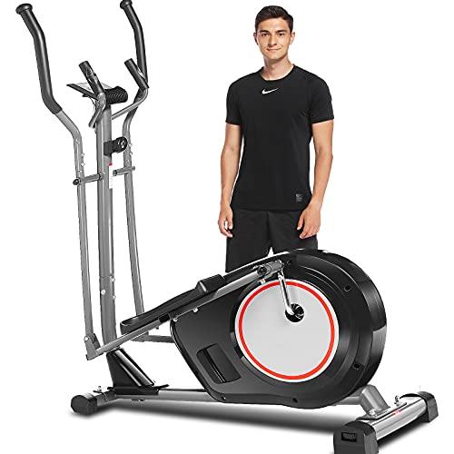 Profun Crosstrainer Für Zuhause, Ellipsentrainer mit APP-Steuerung, 8 Magnetwiderstandsstufen Bluetooth 12kg Schwungrad 170kg Max Kapazität Gewicht