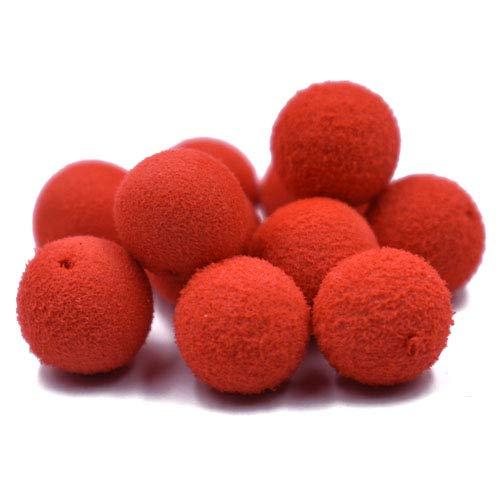 30 Pezzi Galleggiante Boilie di Pesca Carpa Esche con Odore di Pesc Carpa Carp Fishing Boilie (Rosso-Fragola)