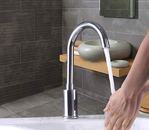 24x7 eMall Brass Swan Neck Sensor Tap Automatic for Bathroom/Touch Less Hand Free Sensor Tap AC and...