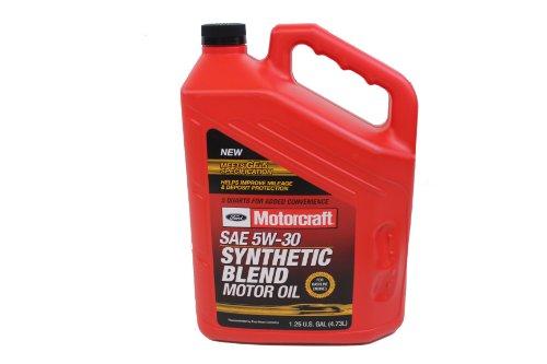 Genuine Ford Fluid XO-5W30-5QSP SAE 5W-30 Premium Synthetic Blend Motor Oil - 5 Quart Jug