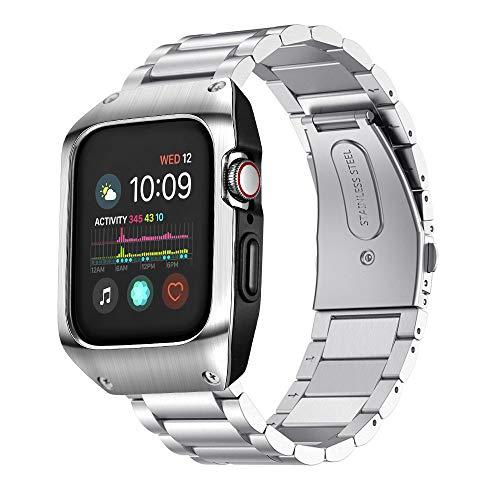 VICARA Compatible with Apple Watch 5 バンド series 5/4 44mm 保護ケース 一体式 傷防止 アップルウォッ...