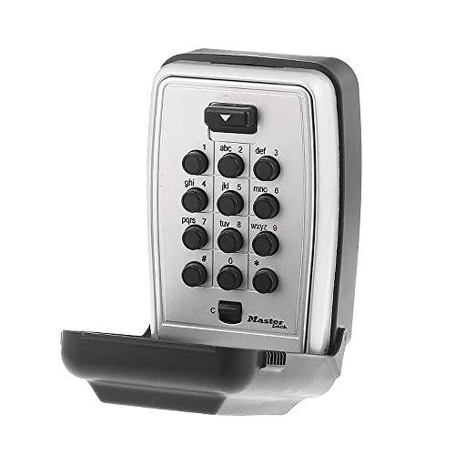 Master Lock 5423D Set Your Own Combination Wall Mount Push Button Lock Box, 5 Key Capacity, Black