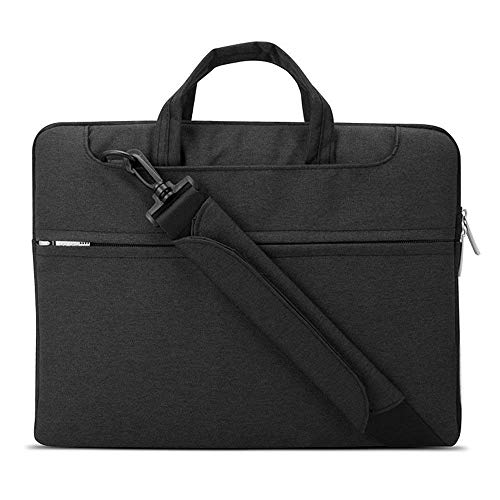Lacdo 13 Inch Laptop Bag Sleeve Case for Old 13.3 inch MacBook Pro 2012-2015 / Old MacBook Air 13.3' A1466 A1369 / 13.3 inch Asus ZenBook, ThinkPad, Yoga, Dell Inspiron, HP ENVY, Acer Chromebook,Black