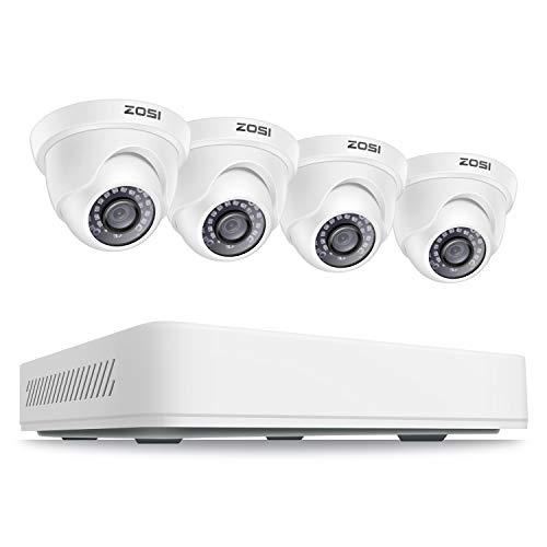 ZOSI - Sistema di sorveglianza a cupola, 5 MP, super HD