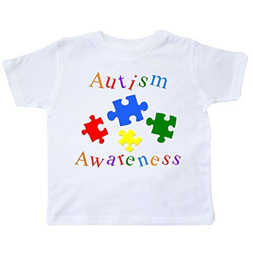 inktastic Autism Awareness-Puzzle Toddler T-Shirt 4T White...