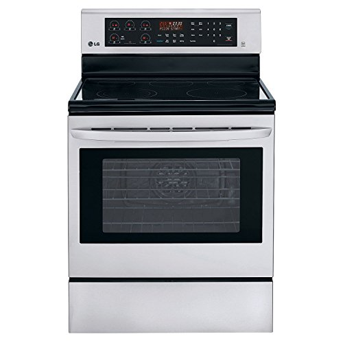 LG LRE3083ST 30' Stainless Steel Electric Smoothtop Range -...