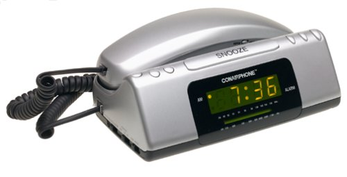 Conair TCR200MS Clock Radio Telephone (Metallic Silver)