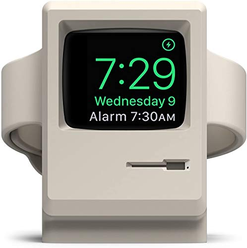 elago W3 Stand with Apple Watch Series 5 (2019) / Series 4 / Series 3 / Series 2 / Series 1 / 44mm / 42mm / 40mm / 38mm - Night Stand Mode, Charging Station (White)