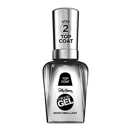 Sally Hansen Miracle Gel Nail Polish Shiny Top Coat, 101 Miracle Gel 3.0 Shiny Top Coat, 0.5 Fl Ounce