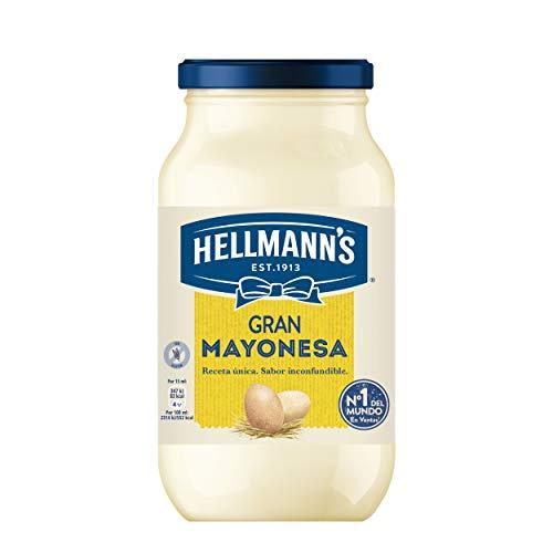 Hellmann's Gran - Mayonesa en tarro450ml, pack de 4