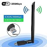 USB wifi Adaptateurs, USB 3.0 1200Mbps Clé WiFi Dongle AC Dual Band avec...