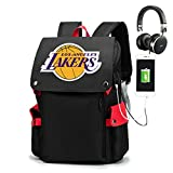 YDYL-LI Mochila de baloncesto # Los Angeles Lakers mochila escolar bolsa de viaje bolsa de deporte bolsa para adolescentes niño niño estudiante, color rojo
