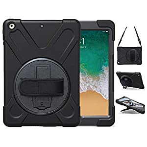 【𝐎𝐍𝐋𝐘 for iPad Air 1st】 This TSQ Heavy duty rugged protective shockproof bumper case designed for Apple Tablet iPad Air 1st generation (iPad 5) 9.7 inch 2013 released. Fit model: A1474,A1475,A1476, 𝐍𝐎𝐓 compatible with other iPad tablet models. Please...