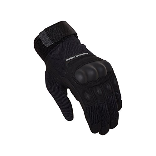 Royal Enfield Black Polyster Riding Gloves for Men (RRGGLH000052)