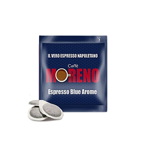 CAFFE' MORENO 150 CIALDE IN CARTA ESE 44MM ESPRESSO BLUE AROME MOKONA/TAZZONA COMPATIBILI
