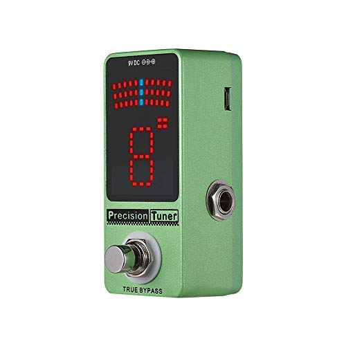 Guitar Tuner Pedal Precision Tuner Pedal Guitar Pedal Tuner LED Display With True Bypass For Chromatic Guitar Bass