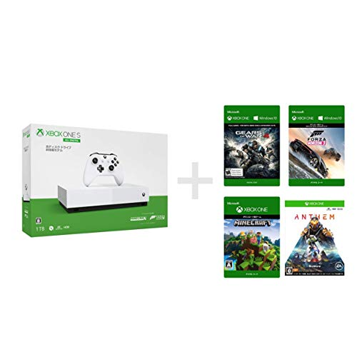 Xbox One S 1 TB All Digital Edition ソフト4本セット Forza Horizon 3 + Minecraft ダウンロード (同梱) ...
