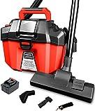 Evereze Cordless Shop Vacuum Cleaner 2 Peak HP 2.6 Gallon Lightweight Powerful Suction Detachable 2.0Ah Battery for Garage, Car, Home & Workshop -V20 Plus