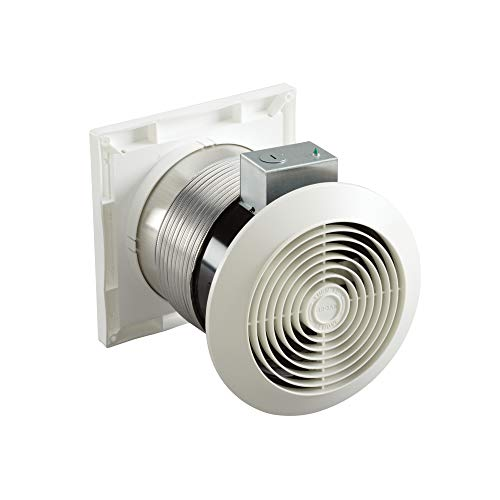 Broan-Nutone 512M Through-the-Wall Ventilation Fan, White Square Exhaust Fan, 6.0 Sones, 70 CFM, 6'