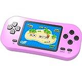 ZHISHAN Console de Jeu Portable pour Enfants Jeu Rétro Classique 218 8 Bits Intégré Système de Jeu Vidéo D'arcade Rechargeable avec écran de 2,5 Pouces Cadeau d'anniversaire de Noël (Rose)