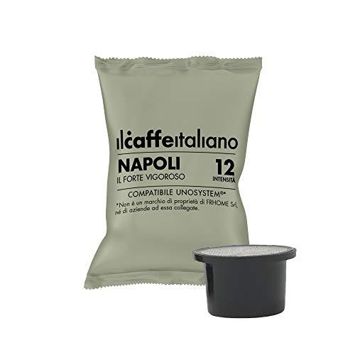 Il Caffè Italiano - UNO System 100 Capsule compatibili - Miscela Napoli Intensità 12 - Frhome