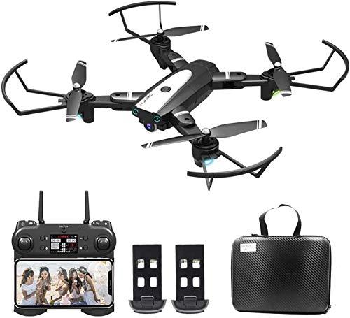 OBEST Drone con videocamera 4K HD, aereo WiFi FPV, modalit senza testa, foto gestuale, ritorno con un pulsante, capovolgimento 360, tempo di volo di 30 minuti (2 batterie)