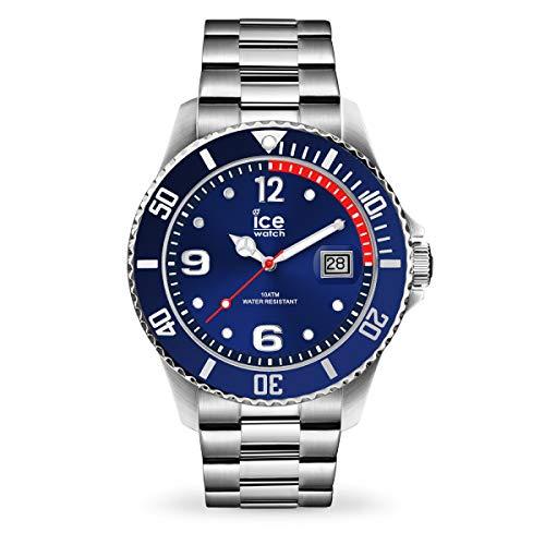 ICE-WATCH - ICE steel Blue silver - Blaue Herren/Unisexuhr mit Metallarmband - 015771 (Medium)