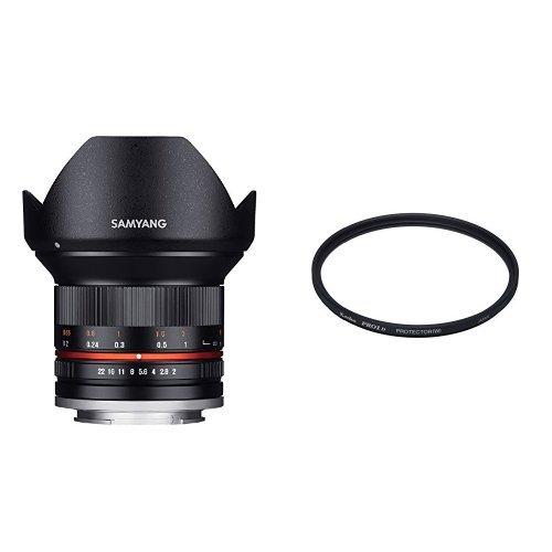 SAMYANG 単焦点広角レンズ 12mm F2.0 ブラック ソニー αE用  + PRO1Dプロテクター 67mmセット