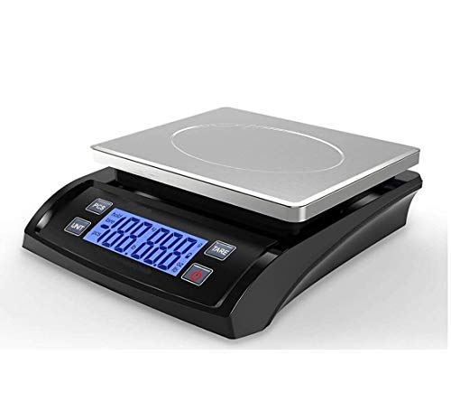 MEDITIVE Digital Kitchen Weighing Scale with White Backlight Display, Small Platform Size for Home...