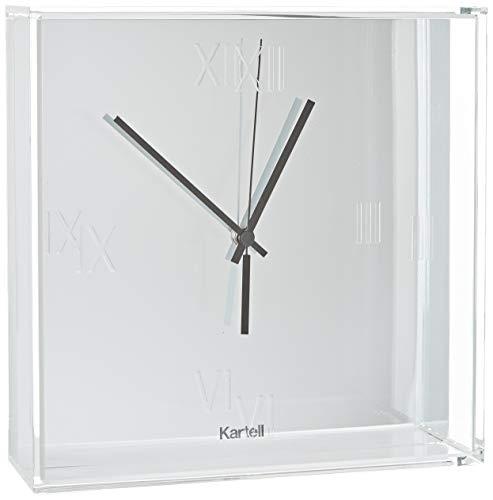 Kartell Tic & Tac Tic und Tac Uhr, Plastik, verchromt, 30 x 30 cm