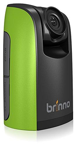 Brinno TLC200 Bundle Time Lapse Camera, Cronofotografia, Display LCD 1.44', Risoluzione Video 1280 x 720, Scheda SD 4GB, con Custodia e Supporto da Parete, Verde/Nero