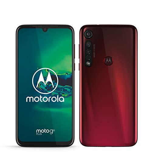 Motorola Moto G8 Plus, Display FHD 6,3', Sensore Fotocamera da 48 MP, Altoparlanti Stereo Dolby, 64 GB/4GB, Android 9.0, Dual SIM, Pink