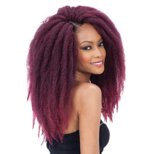 Freetress Equal Synthetic Hair Braids Double Strand Style Cuban Twist Braid 16' (6-Pack, 1B)
