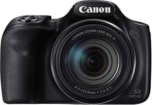 Canon PowerShot SX540 HS   Spiegelreflexcamera   20,3 MPCMOS-sensor   50 x Ultrazoom,   100x ZoomPlus   WiFi   Full HD   Zwart