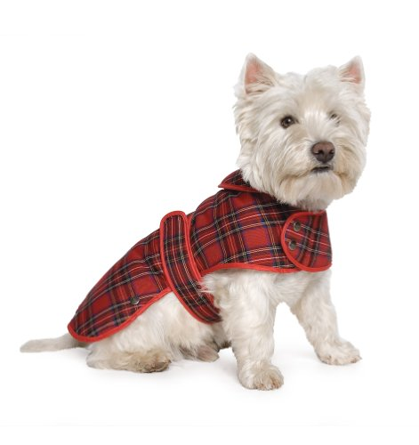 Ancol Muddy Paws Highland Tartan Red Coat Media