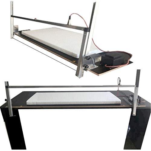 Styroporschneidegerät Thermo Säge Styropor Cutter Styroporschneider  Größen Auswahl XS -102cm mit Ständer / S - 102cm / L- 115cm / XL- 135cm / XXL- 155cm Inklusive 3 Glühdrähte - DEUTSCHE HERSTELLUNG-