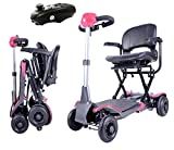 Rubicon Foldable Mobility Scooter Extreme 4-Wheel Sport Heavy Duty Long Range Automatic for Adults, All Terrain Zero Turn Maneuverability Compact Mobility Power Scout, Extended Battery