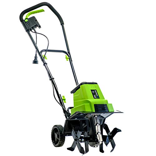 Earthwise TC70090 9-Amp 12-Inch Corded Electric Tiller/Cultivator, Green