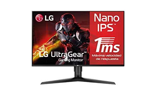 LG 27GL850-B, Monitor Gaming de 27' QHD (2560×1440 (3686k), IPS 16:9, DisplayPort x1, HDMI x1, USB x3, 144 Hz, 1ms) Negro