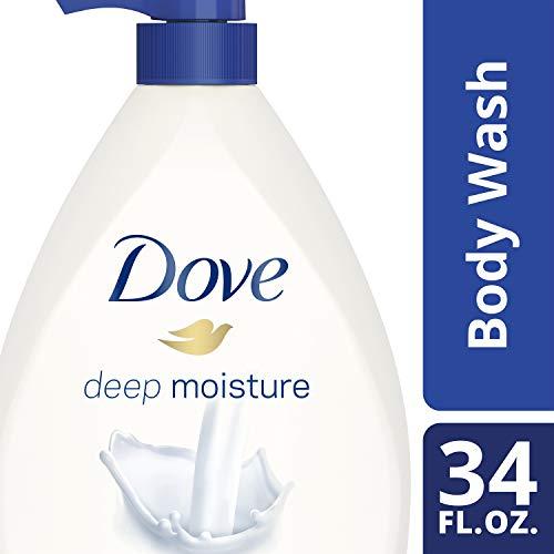 Dove Body Wash Pump For Dry Skin, Deep Moisture, Sulfate Free Moisturizing Bodywash, 34 Fl Oz