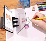 DIY Drawing Tracing Pad Optical Projector Painting Copy Board Mirror Reflection Projection Tracing Plate Board Comic Tracer Art Stencil Tool with Phone/Pad Xmas Gift for Kids,Students,Sketching