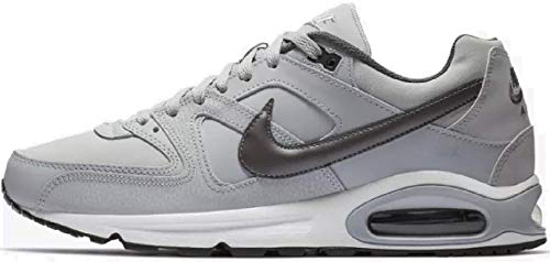 Nike Herren AIR MAX Command Leather Laufschuhe, Grau (Wolf Grey/MTLC Dark Grey/Black/White 012), 42 EU