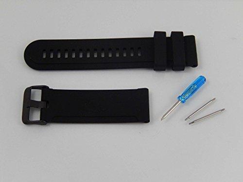 vhbw Ersatz Armband L kompatibel mit Suunto Traverse Fitnessuhr, Smartwatch - 12.5cm + 8.5 cm Silikon schwarz