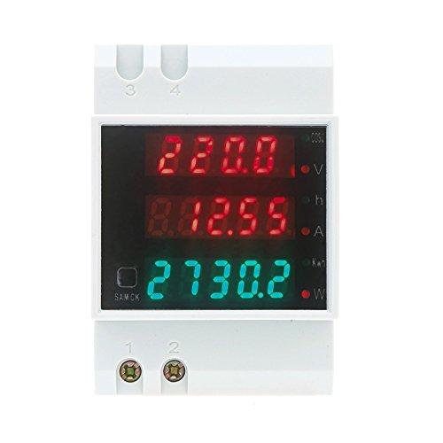 KKmoon AC80-300V 100A multifunzionale digitale Din Ammeter Tensione Potenza Factor Meter Ammeter Voltmeter 5Pcs (1 Pcs)