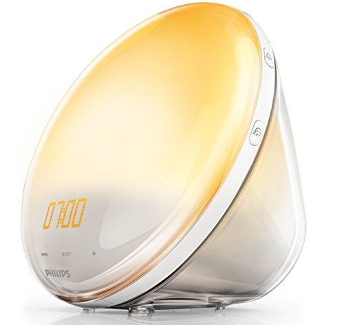 Philips HF3531/01 Wake-Up Light (Sonnenaufgangfunktion, Touchdisplay, 7 Wecktöne, digitales FM Radio, Tageslichtwecker)