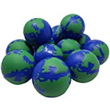 World Stress Balls. 2.5-Inch Earth Globe Stress Balls Pack of 12