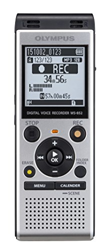 Olympus WS-852 Digital Voice Recorder with Built-in USB (Silver)