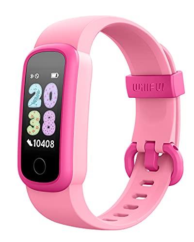 Willful Orologio Fitness Smartwatch Contapassi per Bambini Ragazzo dai 6 Anni in su Cardiofrequenzimetro Impermeabile IP68 Sveglia Cronometro Sonno Calorie km (pu essere utilizzato senza cellulare)