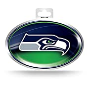 Oval shaped decal measures 3.5-inches by 5-inches Features bold team logo on a eye-catching metallic background Made of high-quality, weather resistant vinyl material Easily adheres to any vehicle or other hard surface Officially Licensed; Made in th...