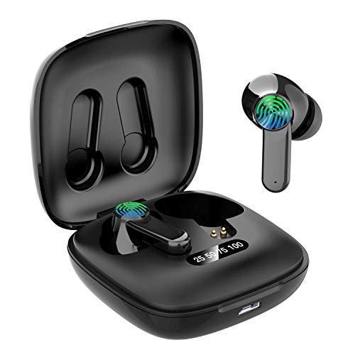 Casque sans Fil, 2020 mis à Jour Bluetooth 5.0 Écouteurs sans Fil Microphone à Son Clair Mini Casque Bluetooth Écouteurs avec étui de Chargement Portable pour la Course à Pied(ER-7)